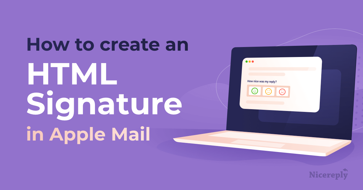 How to create a perfect HTML Signature in Apple Mail