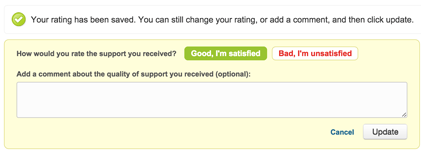 Customer Satisfaction Survey and comment in Zendesk