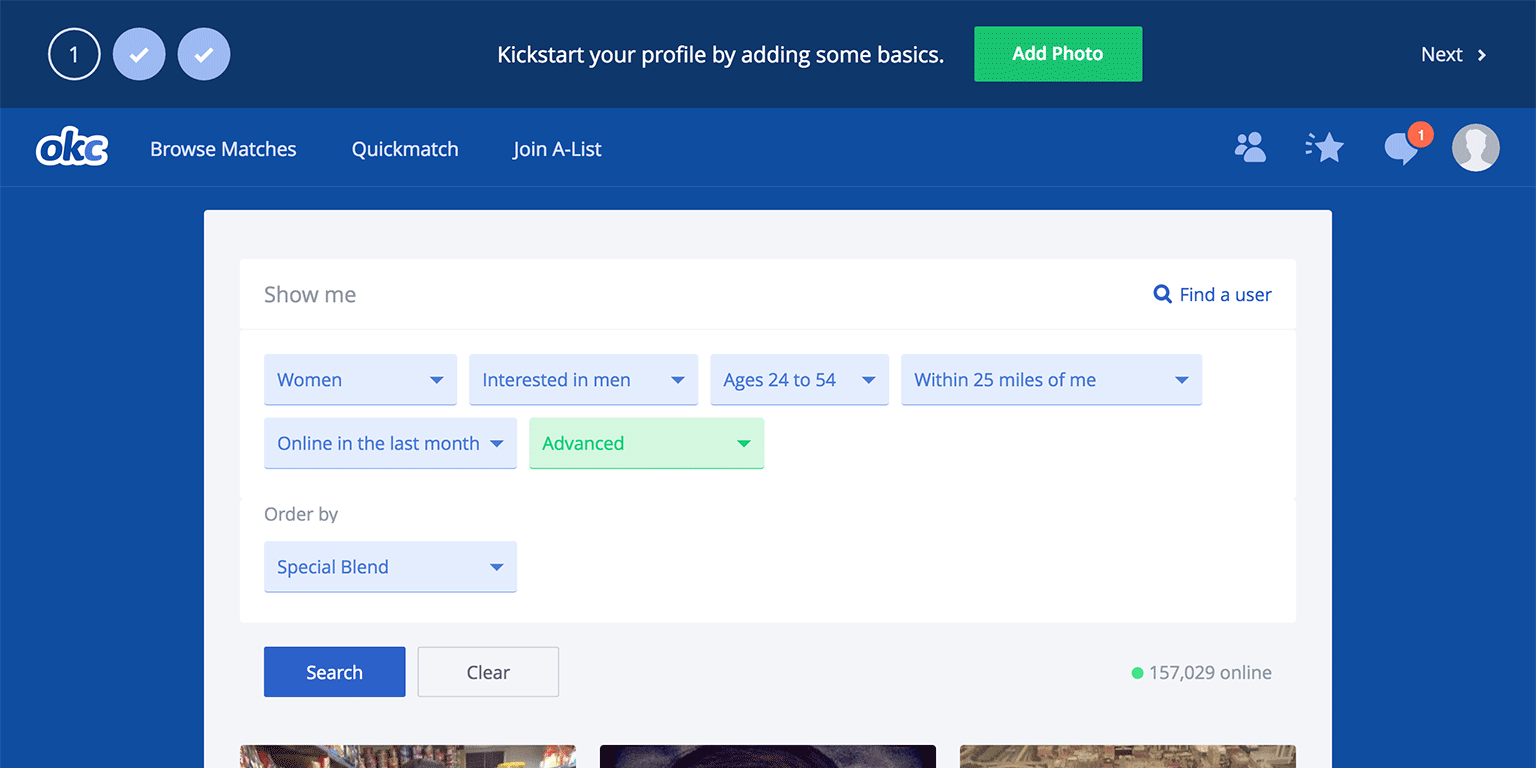 IKEA effect in okcupid onboarding