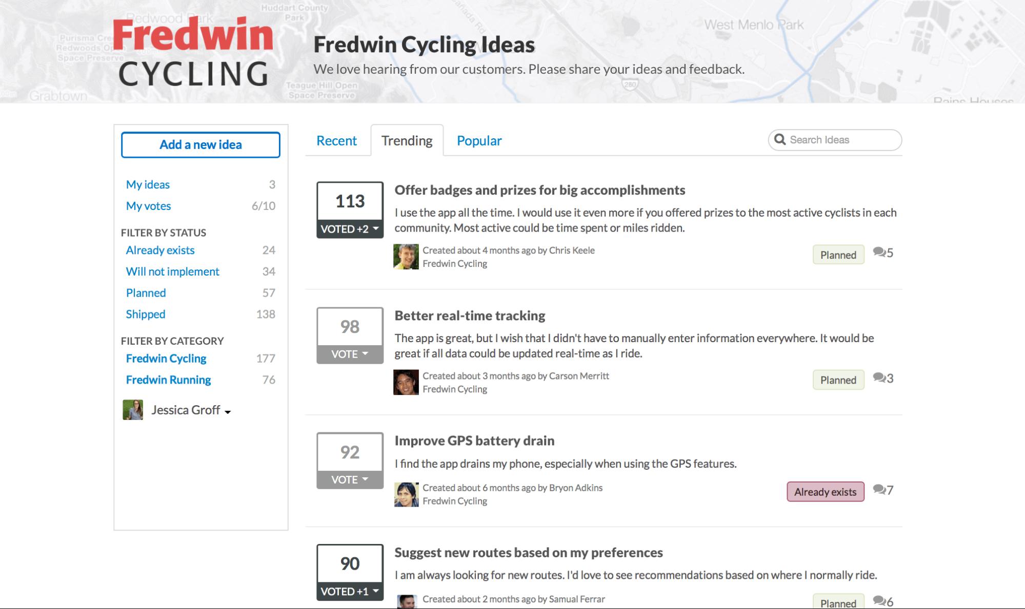 Public feedback forums
