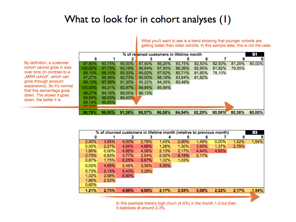 what to look for in a cohort analysis