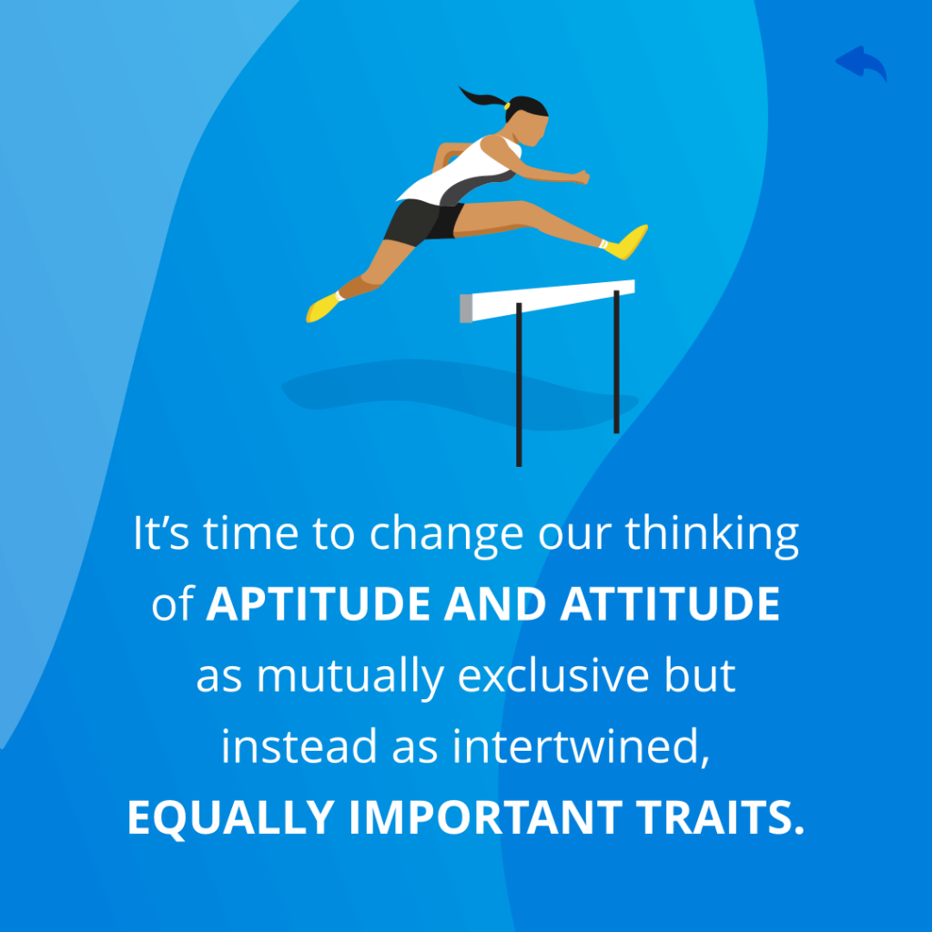 Aptitude and Attitude should be equal