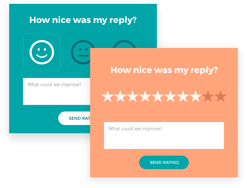 Customer survey questions: How nice was my reply?