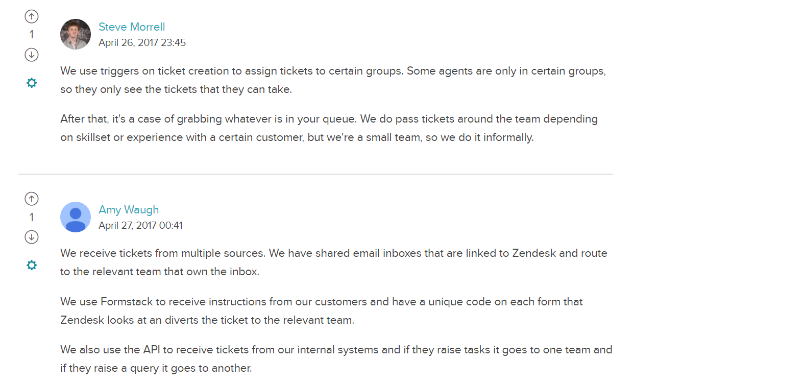 NPS promoters sharing knowledge on Zendesk forum