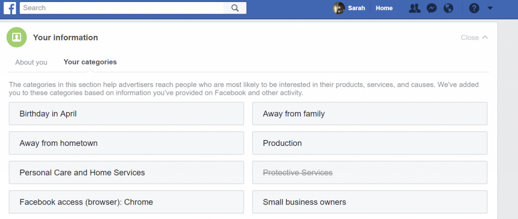 Facebook Ad Setting- customer service trends