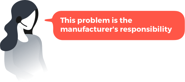 Customer Phrases- This problem is manufacturers respo..