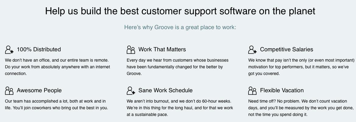 customer support job ad