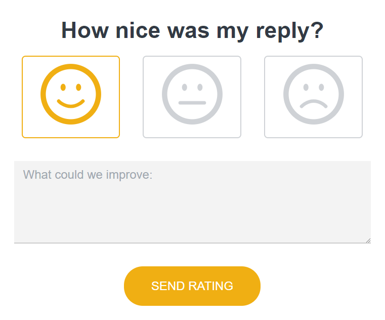 Nicereply CSAT survey
